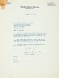 Autographs:U.S. Presidents, [John F. Kennedy]. John F. Kennedy Statement on Civil Rights andRace Relations with an Autopen Signature....