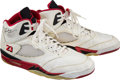Baseball Collectibles:Others, 1990 Michael Jordan Game Worn Signed Shoes. ...