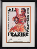 Boxing Collectibles:Autographs, 1990's Muhammad Ali & Joe Frazier Signed Thrilla in ManilaDisplay. ...