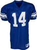 Football Collectibles:Uniforms, 1990-91 Ty Detmer Game Worn BYU Cougars Jersey....