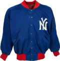 Football Collectibles:Uniforms, Late 1950's Early 1960's Roosevelt Brown Game Worn New York Giants Sideline Jacket. ...