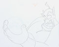 Animation Art:Production Drawing, Aladdin Genie Animation Drawing (Walt Disney, 1996)....