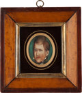 Political:3D & Other Display (pre-1896), Andrew Jackson: A Very Rare and Important Unpublished Small Portrait at a Fairly Young Age, Probably circa 1815-1820....