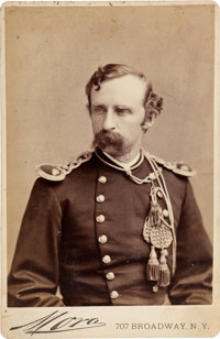 George Armstrong Custer: Cabinet Card by Mora