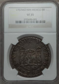 Mexico, Mexico: Ferdinand VI Pillar Dollar of 8 Reales 1757 Mo-MM VF35NGC,...