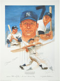 Baseball Collectibles:Others, 1988 Mickey Mantle Signed Lithograph....