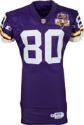 Football Collectibles:Uniforms, 1995 Cris Carter Game Worn Minnesota Vikings Jersey. ...