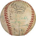 Baseball Collectibles:Balls, Early 1940's Hall of Famers Multi-Signed Baseball....