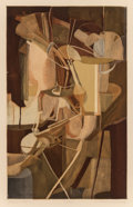 Fine Art - Work on Paper:Print, JACQUES VILLON (French, 1875-1963), After MARCEL DUCHAMP (French,1887-1968). La Mariée, 1934. Etching and aquatint in c...