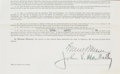 Football Collectibles:Others, 1931 Johnny Blood McNally Signed Document....