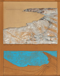 CHRISTO (Bulgarian/American, b. 1935) Packed Coast (Project for West Coast 15 miles long), 1968 Poly