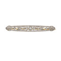 Estate Jewelry:Brooches - Pins, Edwardian Diamond, Platinum, Gold Brooch. ...