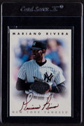 Baseball Cards:Autographs, 1996 Leaf Signatures Silver Autographs Mariano Rivera #195....