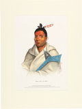 "Art, McKenney & Hall Hand-colored Engraving of ""Waa-top-e-not.""..."