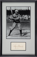 Baseball Collectibles:Others, 1950's Rogers Hornsby Signed Cut Display. ...
