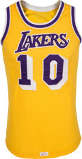 Basketball Collectibles:Uniforms, Late 1970's Norm Nixon Game Worn Los Angeles Lakers Jersey andShorts....
