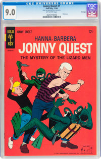 Jonny Quest #1 File Copy (Gold Key, 1964) CGC VF/NM 9.0 Off-white pages
