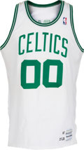 Basketball Collectibles:Uniforms, 1987-88 Robert Parish Game Worn Boston Celtics Jersey. ...