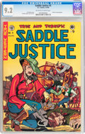 Golden Age (1938-1955):Western, Saddle Justice #5 (EC, 1949) CGC NM- 9.2 Off-white to whitepages....