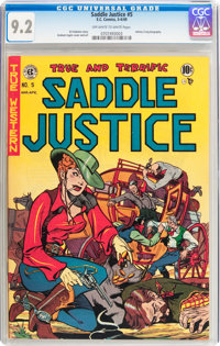 Saddle Justice #5 (EC, 1949) CGC NM- 9.2 Off-white to white pages