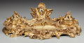 Paintings, A LOUIS XV-STYLE GILT BRONZE ENCRIER, circa 1865. 4-1/2 x 15-3/4 x 8-1/2 inches (11.4 x 40.0 x 21.6 cm). ...
