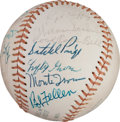 Baseball Collectibles:Balls, 1974 Hall of Fame Induction Multi Signed Baseball - Whitey Ford'sPersonal Signed Baseball. ...