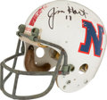 Football Collectibles:Helmets, Mid 1970's Jim Hart Game Worn, Signed Pro Bowl Helmet....