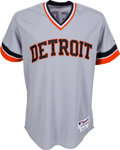 Baseball Collectibles:Uniforms, 2012 Max Scherzer Game Worn Detroit Tigers Throwback Uniform. ...