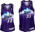 Basketball Collectibles:Uniforms, 1999-2000 John Stockton and Karl Malone Game Worn Utah Jazz Jerseys- With Trainer Letter....