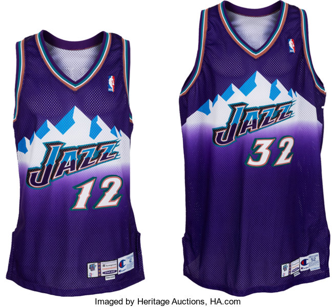 huge discount 6c5f0 39593 1999-2000 John Stockton and Karl Malone Game Worn Utah Jazz ...