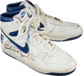 Basketball Collectibles:Others, 1985 Chris Mullin Game Worn, Signed Golden State Warriors RookieShoes....
