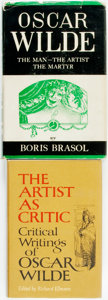 Books:Books about Books, [Oscar Wilde]. Boris Brasol. Oscar Wilde: The Man - The Artist -The Martyr. New York: Charles Scribner's Sons, ... (Total: 2Items)