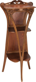 Furniture : Continental, FRENCH ART NOUVEAU MAHOGANY ÉTAGÈRE, circa 1900. 49-1/2 x 22 x 17inches (125.7 x 55.9 x 43.2 cm). PROPERTY FROM THE RICHA...