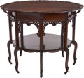 Furniture , A CHIPPENDALE-STYLE MAHOGANY CENTER TABLE, early 20th century. 29 inches high x 37 inches diameter (73.7 x 94.0 cm). ...