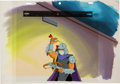 Animation Art:Production Cel, Teenage Mutant Ninja Turtles Shredder Production Cel andPainted Master Background Setup Animation Art (Murakami-W...