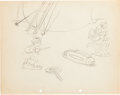 Animation Art:Production Drawing, Gulliver Mickey Lilliputians Layout/Character Study DrawingGroup (Walt Disney, 1934).... (Total: 4 Original Art)