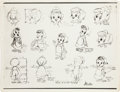 animation art:Model Sheet, Minitoons Studio Model Sheet Group (Minitoons Incorporated, c.1940s-50s).... (Total: 5 Items)