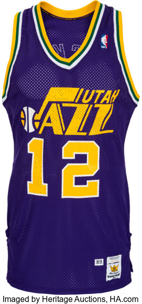 info for 2ad17 0e860 1989 John Stockton Game Worn Utah Jazz Jersey and Shorts ...