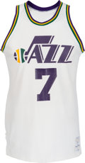 "Basketball Collectibles:Uniforms, 1975-76 ""Pistol Pete"" Maravich Game Worn New Orleans Jazz Jerseywith Photo Match...."