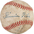 Baseball Collectibles:Balls, 1940's Jimmie Foxx Single Signed Baseball....