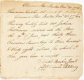 Autographs:Military Figures, [Revolutionary War, Nathaniel Barber] Two Receipts for the Purchase of Firearms. Both are dated Nov. 20, 1776 and are both ...