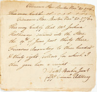 [Revolutionary War, Nathaniel Barber] Two Receipts for the Purchase of Firearms. Both are dated Nov. 20, 1776 and are