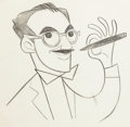 Animation Art:Production Drawing, Groucho Marx You Bet Your Life Title Production DrawingGroup (Playhouse Pictures, c. late 1950s).. ... (Total: 3 OriginalArt)