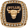 Basketball Collectibles:Others, 1990-91 Chicago Bulls NBA Championship Ring with Original DisplayBox. ...