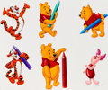 Animation Art:Production Drawing, Winnie the Pooh and Friends Consumer Products Illustration Painting(Walt Disney, c. 1990s)....