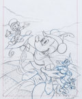 Animation Art:Production Drawing, Fun and Fancy Free VHS Cover Concept Sketch Group (WaltDisney, undated).... (Total: 2 Items)