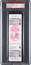 Baseball Collectibles:Tickets, 1977 World Series Game Six Full Ticket--Reggie Jackson Hits ThreeHome Runs in Clincher!...