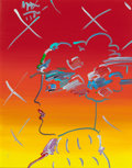 Post-War & Contemporary:Contemporary, PETER MAX (American, b. 1937). Profile in Orange and Yellow,1984. Acrylic on canvas. 20 x 16 inches (50.8 x 40.6 cm). S...