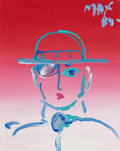 Post-War & Contemporary:Contemporary, PETER MAX (American, b. 1937). Portrait, 1984. Acrylic oncanvas. 19-1/2 x 16 inches (49.5 x 40.6 cm). Signed and dated ...