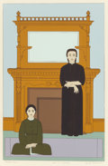 Prints, Will Barnet (American, 1911-2012). Reflection, 1971. Screenprint in colors. 22 x 14-3/8 inches (55.9 x 36.5 cm). AP (asi...